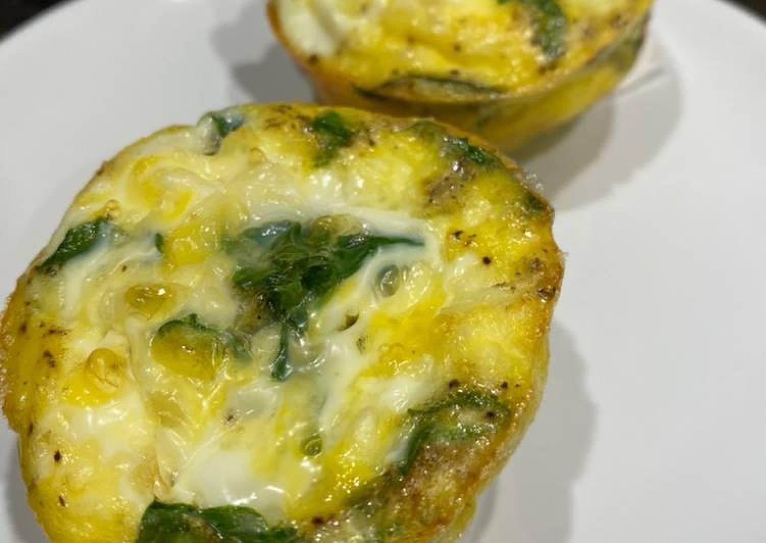 Spinach Feta Egg Bites