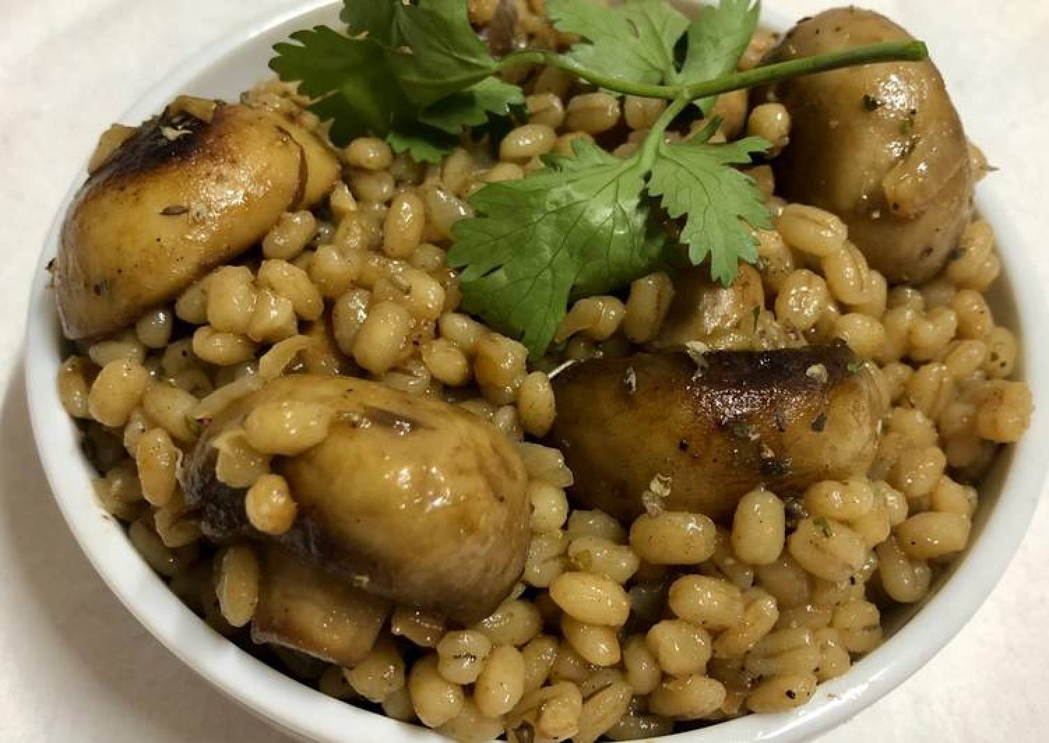 Recipe Of Gordon Ramsay Barley Mushroom Risotto The Menu Box