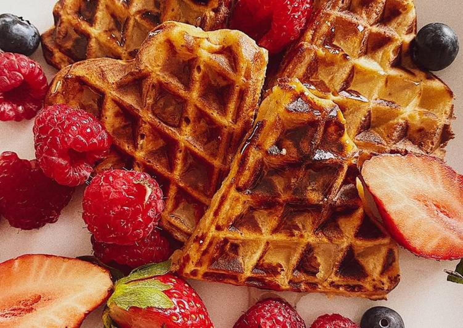 Super tasty apple waffles 🧇
