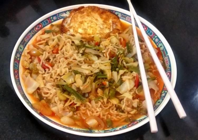 Soupy veg noodles