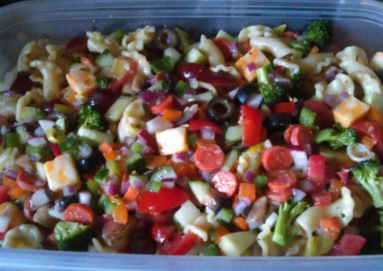 Steps to Make Ultimate Garden supreme pasta salad