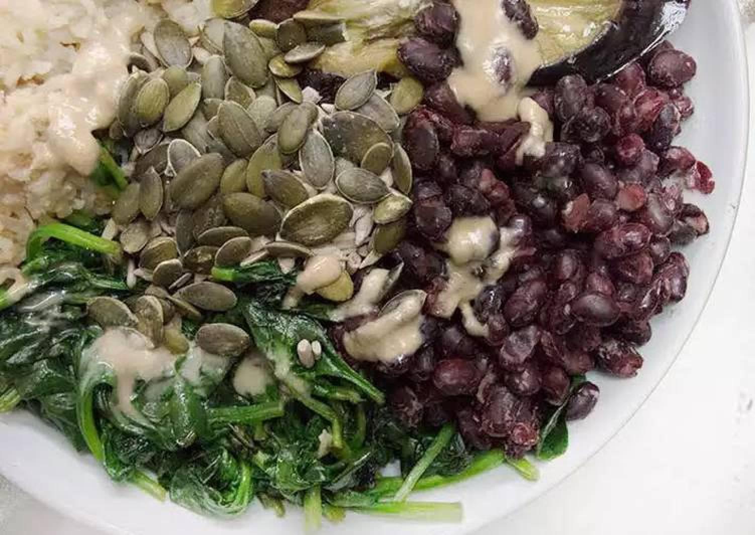 Roasted Aubergine and Tahini Bowl