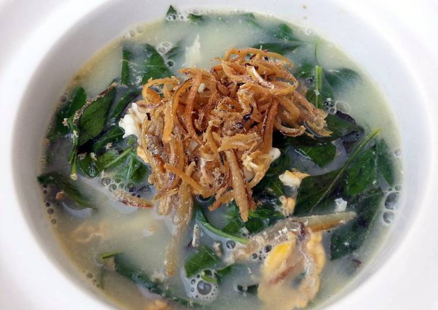 LG MINT SOUP ( EGGS AND ANCHOVIES )