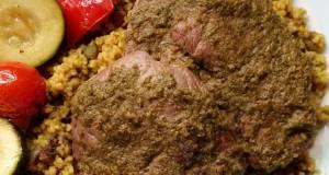 Vickys Pesto Lamb Escalopes  Mediterranean Veg GF DF EF SF NF