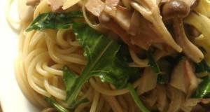 Mustard Arugula and Mushroom Pasta