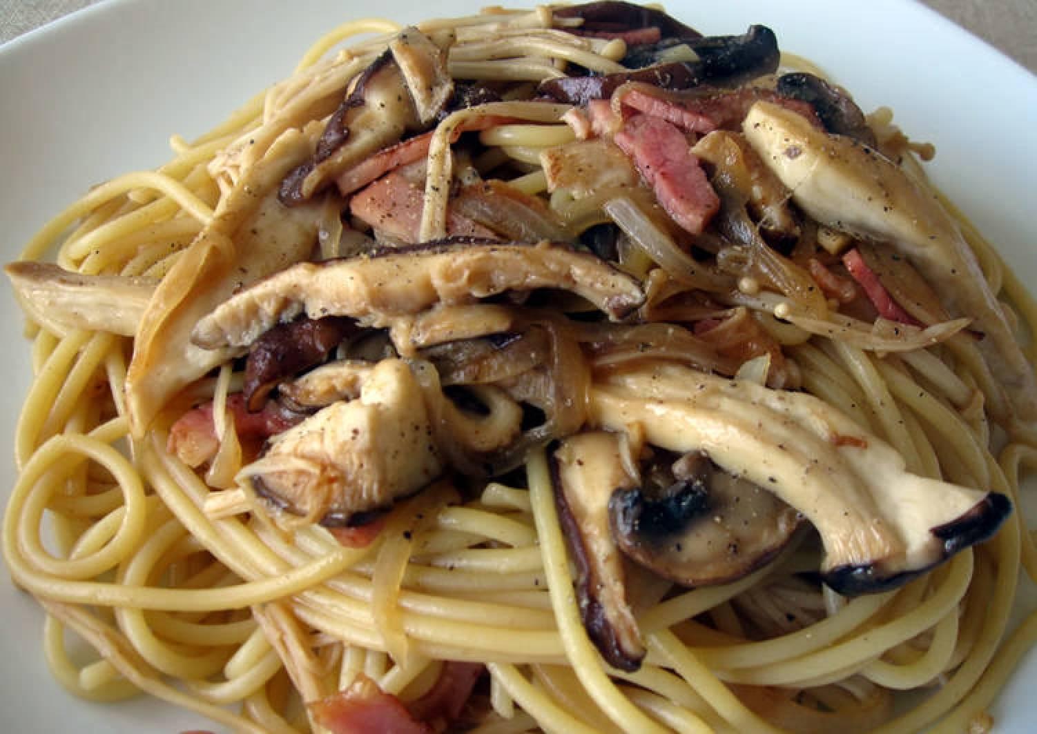 Bacon & Kinoko Spaghetti