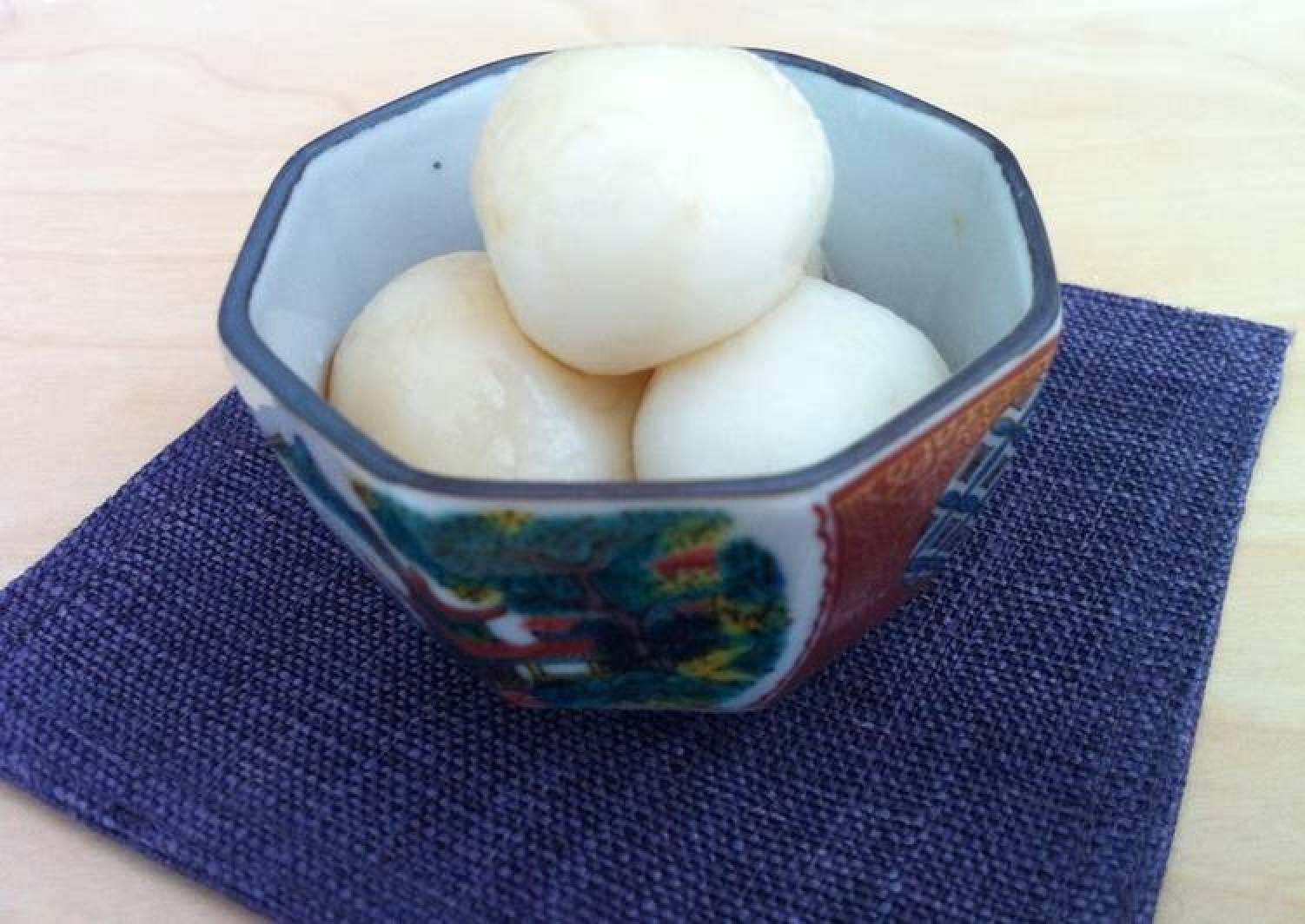 Soft Shiratama (Sticky Rice Ball) with Brown Sugar Syrup