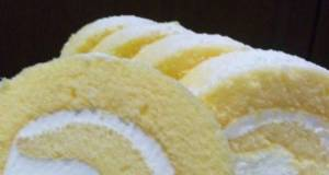 Easy Fluffy Roll Cake in the Microwave