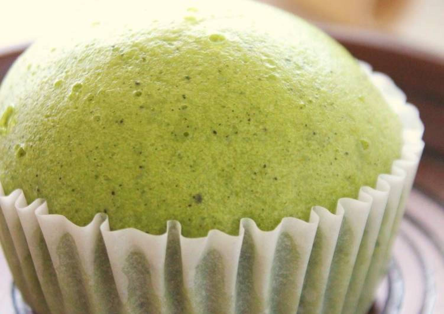 Steamed Matcha Green Tea Buns with Pancake Mix