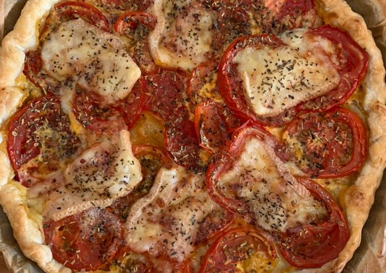 Tarte tomates et fromage raclette