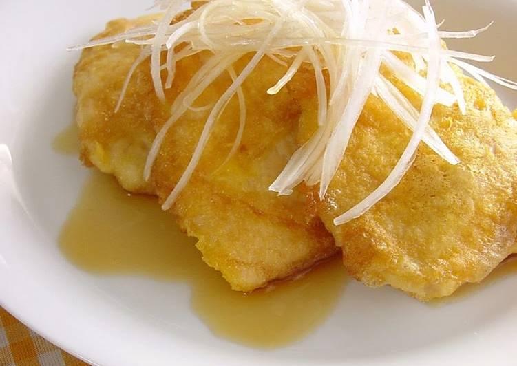 Chicken Breast Piccata with Refreshing Ponzu