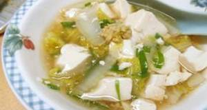 Chinese Cabbage and Tofu With An Sauce