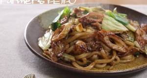 Farmhouse Recipe Stir-fried Udon with Japanese Worcestershire-style Sauce