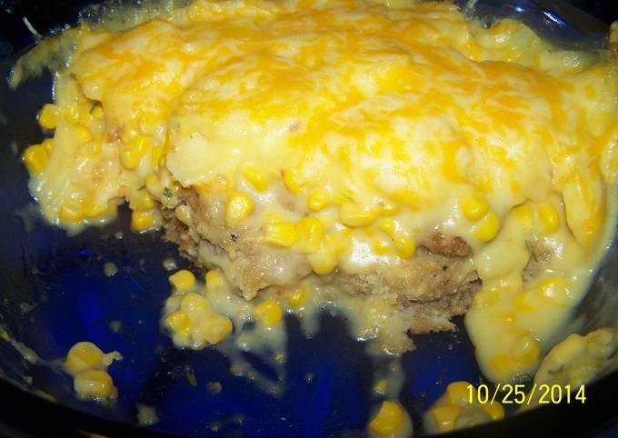 Recipe of Delicious Loaded Scalloped Potatoe Chicken Fried Steak Casserole
