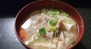Veggie Packed Pork Miso Soup