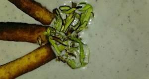 Sigs Aubergine Eggplant and crispy Leek Soup