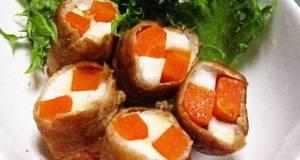 Carrot and Hanpen Sliced Pork Wraps