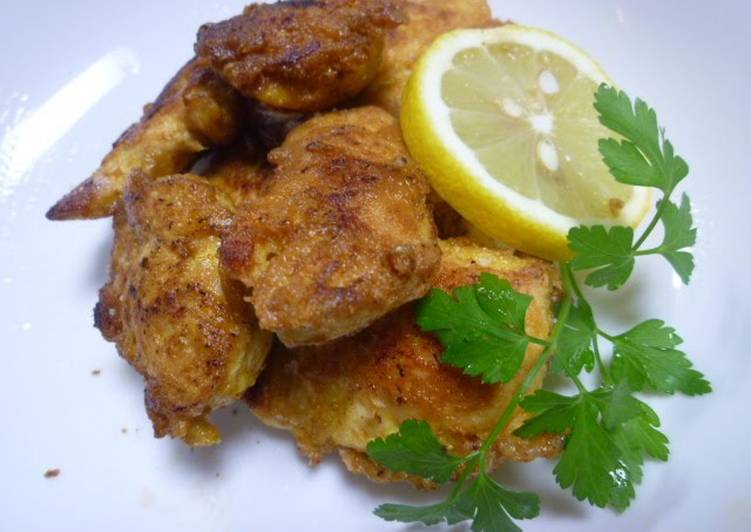 Light and Airy Chicken Tender Piccata Curry Flavor