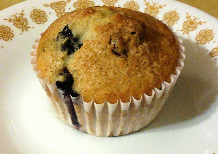 Steps to Prepare Super Quick Homemade Low Fat Cran-Blueberry Muffins