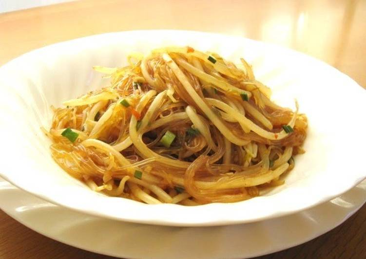 Perfect with Rice Mapo Cellophane Noodles and Bean Sprouts