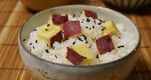 Soft and Chunky Sweet Potato Rice