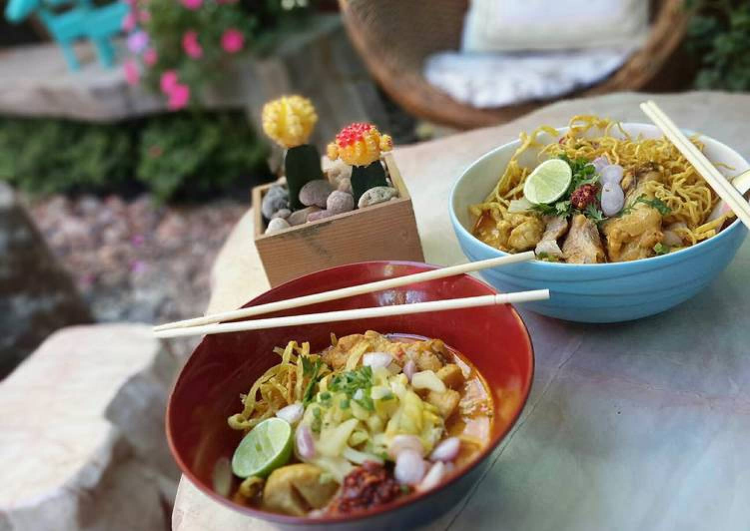 Khao Soi Gai /Thai Curry Noodle With Chicken