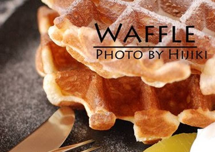 Light Waffles Made with Meringue