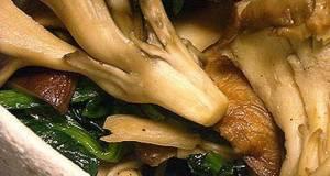Maitake Diet Sauted Maitake Mushrooms and Spinach