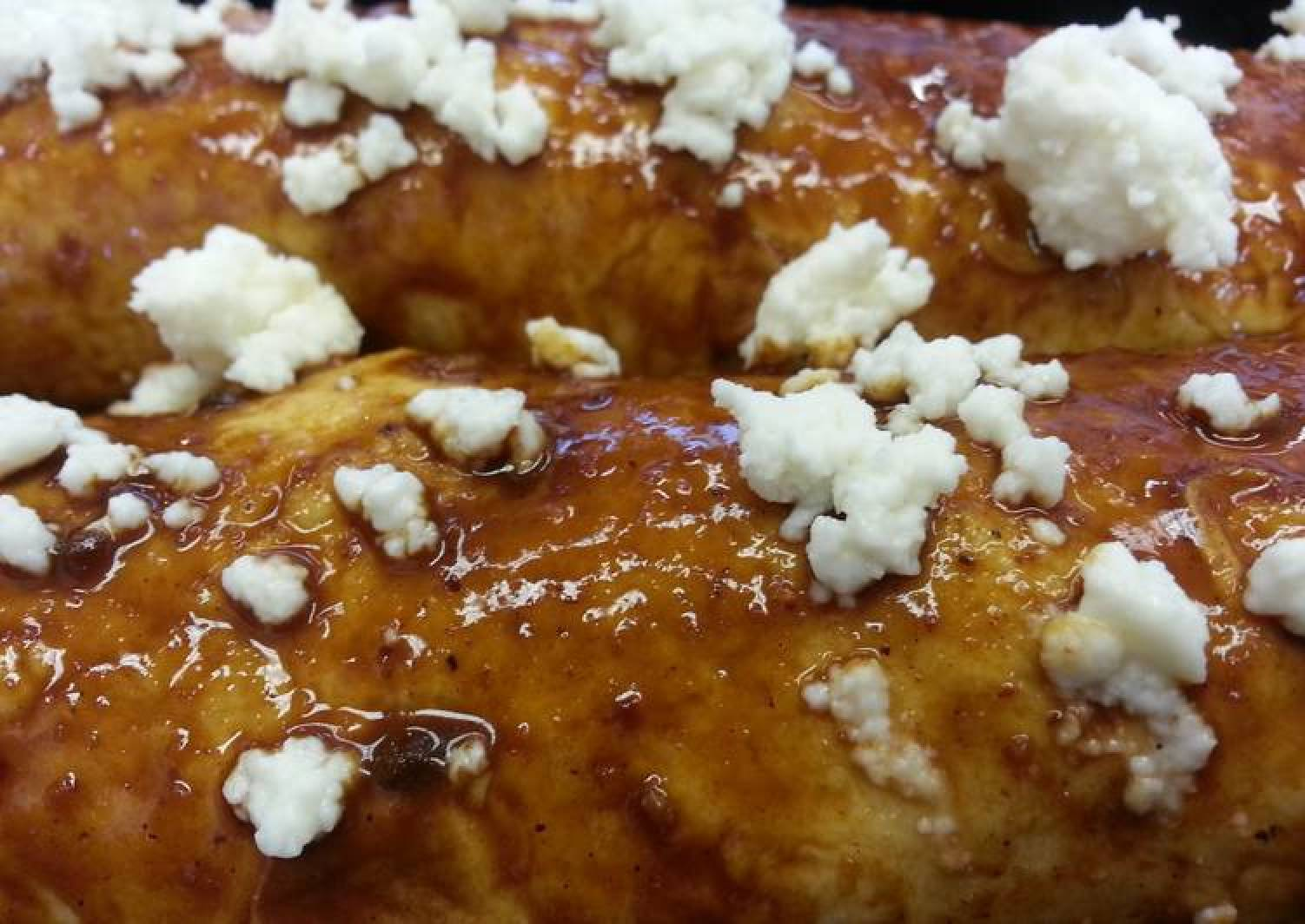 Queso Fresco Enchiladas w/ Easy Mole