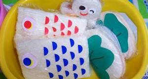 Kindergarten Bento Flying Carp Sandwiches
