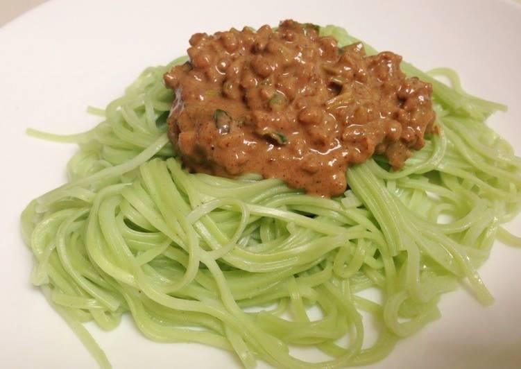 Vegetarian Dan Dan Noodles with Soy Meat