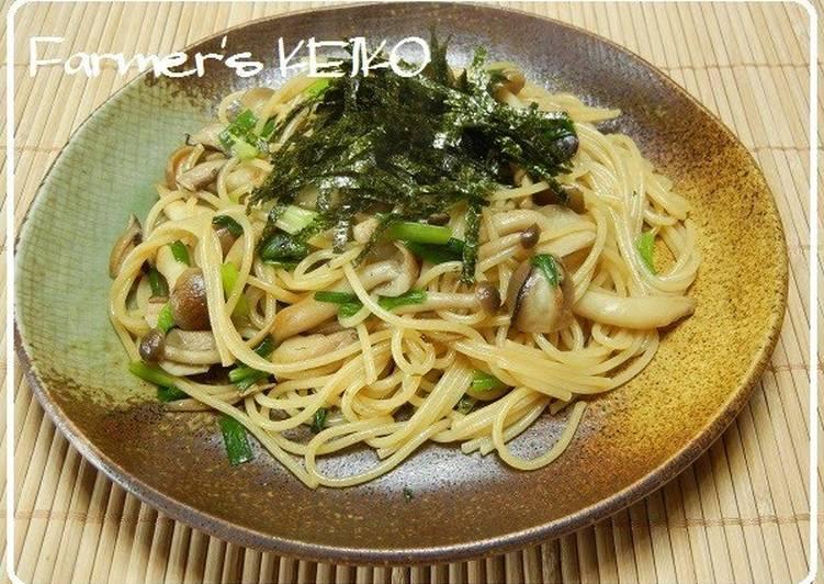 Easiest Way to Prepare Homemade Japanese-Style Mushroom Spaghetti