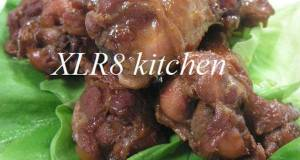 Sweet-Salty Simmered Chicken Wings with Ginger