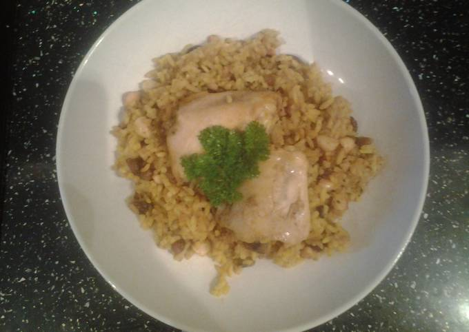 Recipe of Delicious Slow Cooker Spicy Fruit and Nut Chicken Pilaf