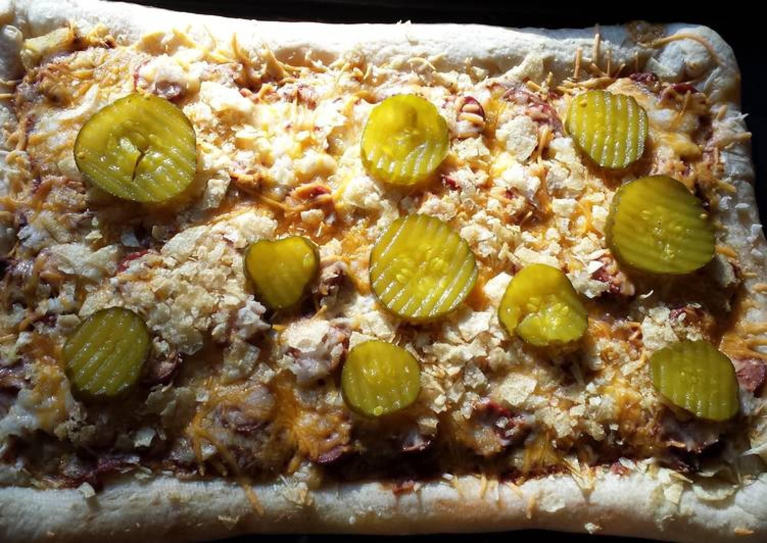 Coney Dog Stuffed Crust Pizza