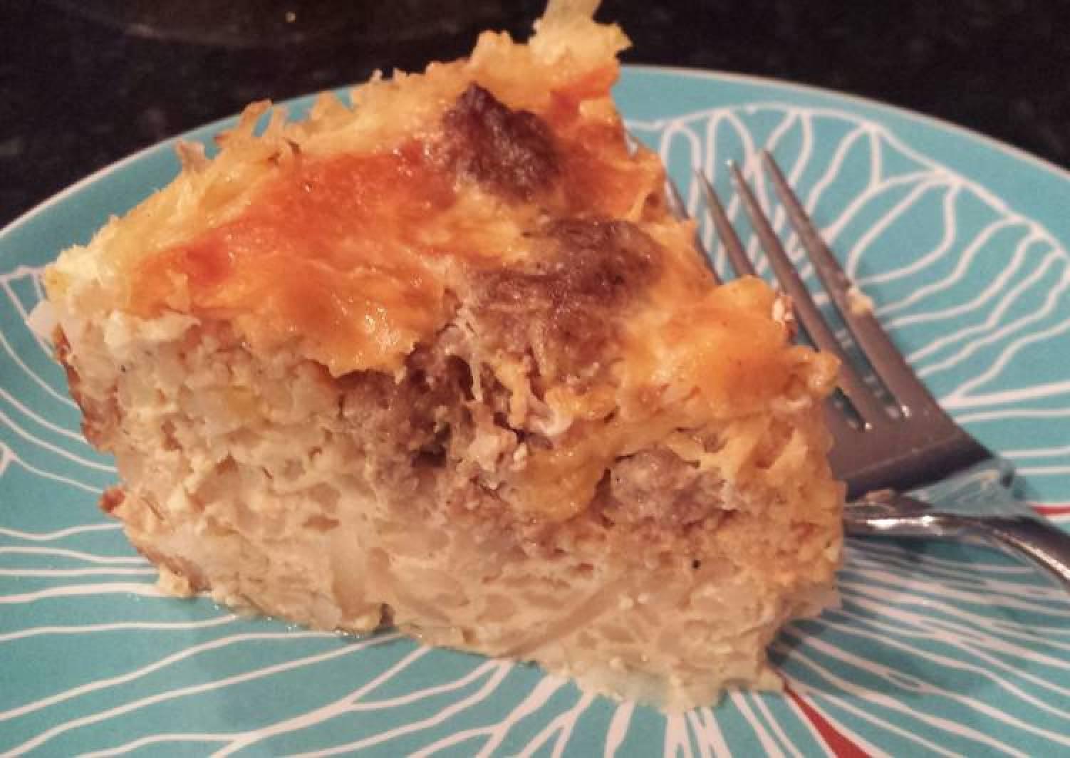 overnight sausage egg casserole (crock pot)
