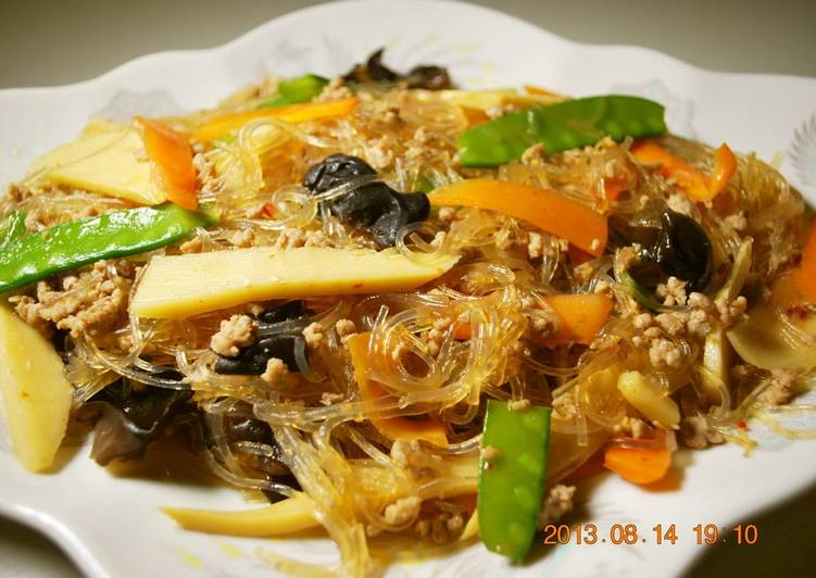 Easy Minute Mapo Harusame Noodles