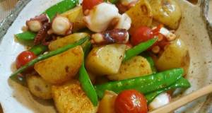 Sauted Potatoes and Octoupus