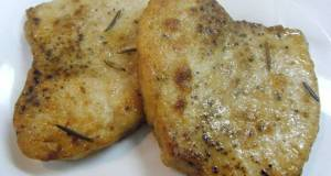 Sauted Swordfish with Rosemary