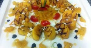 Kanyas Persimmon  Salad With Honey Sauce