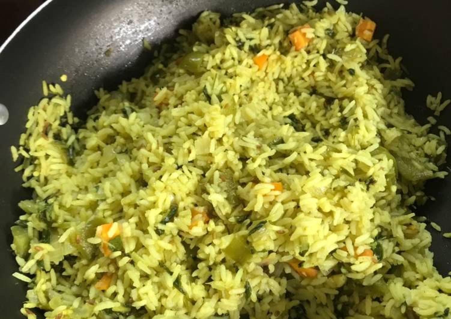 Fenugreek leaves and vegetable pulav