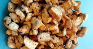 Toasted Garlic Rye Croutons