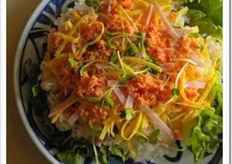 Easy Lemony Chirashi Sushi with Salmon Flakes