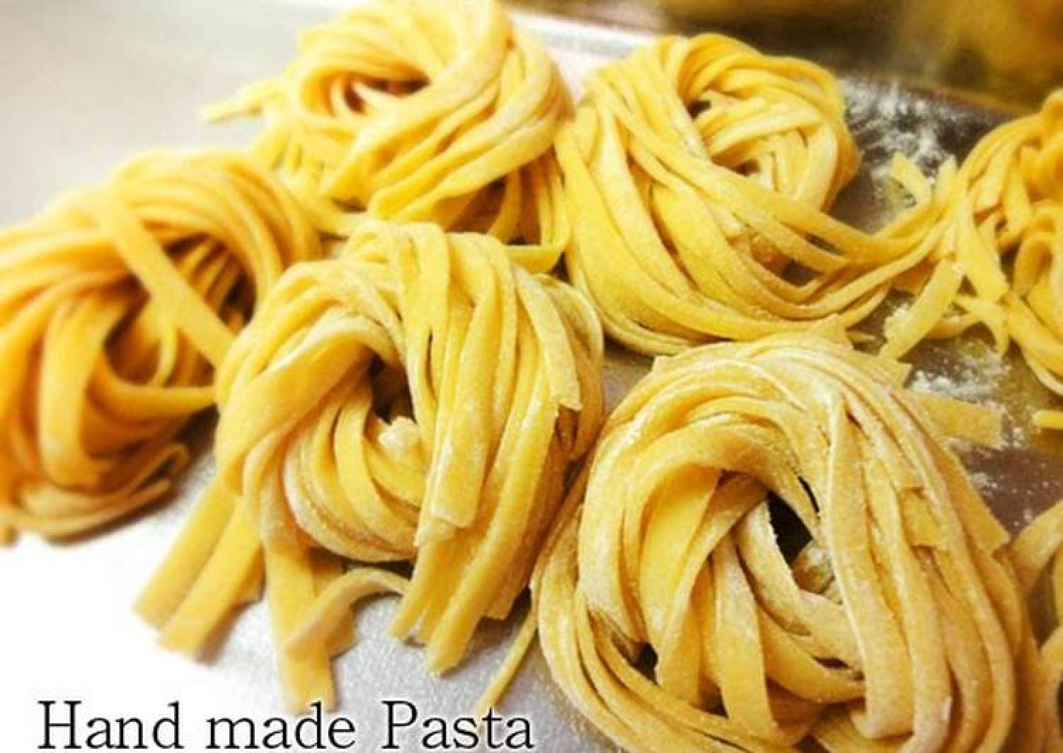 Handmade Fresh Pasta with Leftover Egg Yolks (in a bread maker)