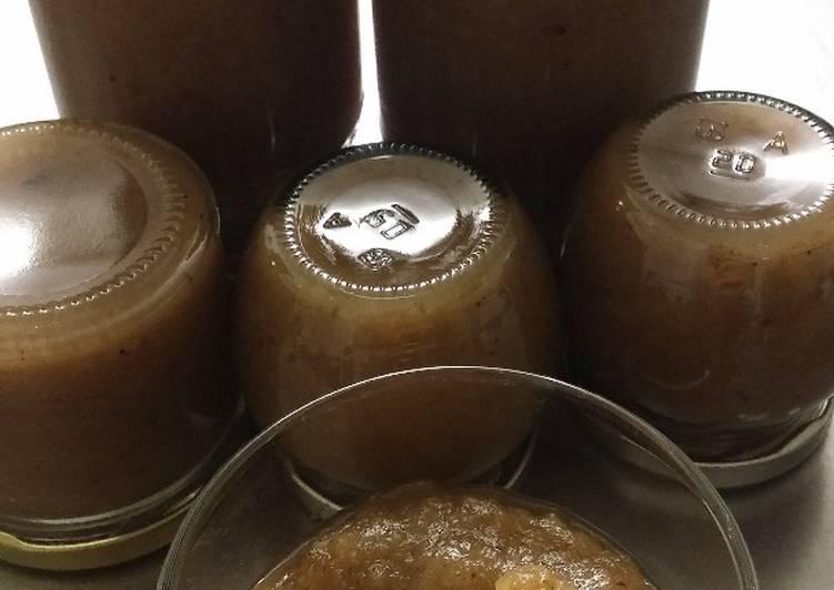Confiture poires/pommes/châtaignes à la vanille de Madagascar
