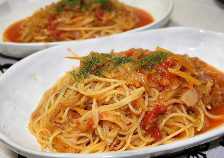 Recipe of Super Quick Homemade Lots of Spring Cabbage! Oil-less Tomato Sauce