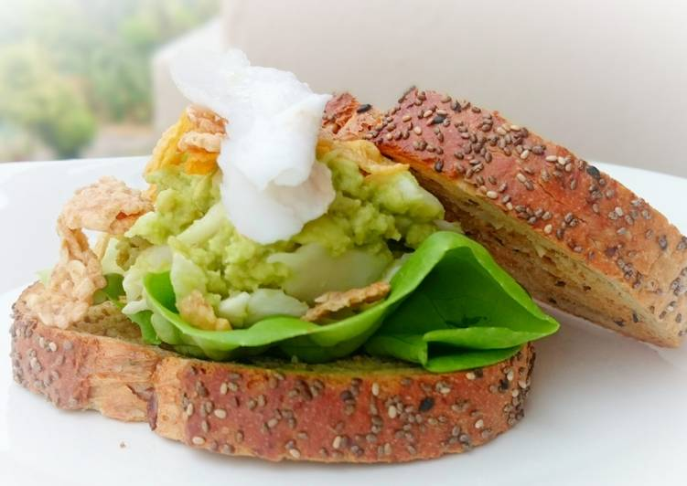Avocado and Coconut Diet Brunch Sandwich /DAY 5