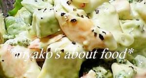 Broccoli Shrimp and Avocado Salad with Wasabi