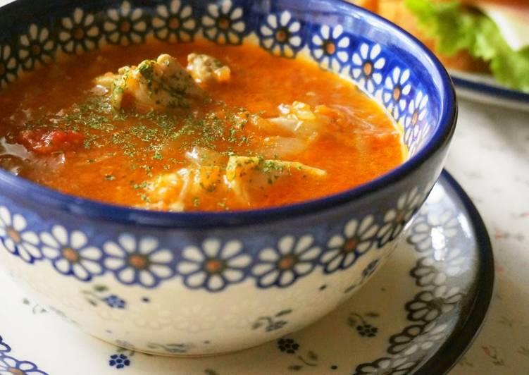 Healthy Chicken  Tomato Soup
