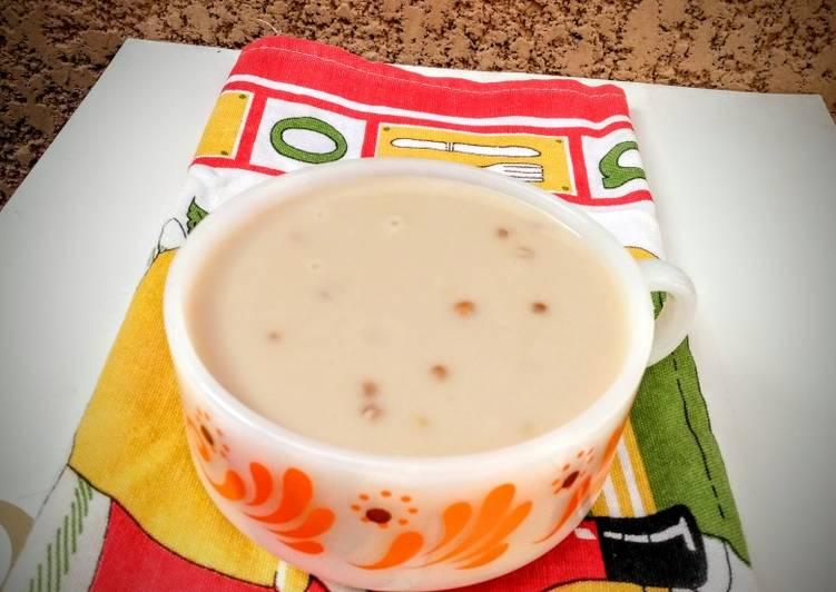 Simple Way to Prepare Speedy Peanut pudding with wheat grains